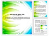 Blue with Green Abstract Editable Word Template
