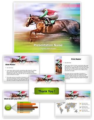 Horse Race Editable PowerPoint Template