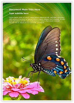 Butterfly Nectar Editable Word Template
