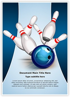 Recreation Bowling Ball Editable Word Template