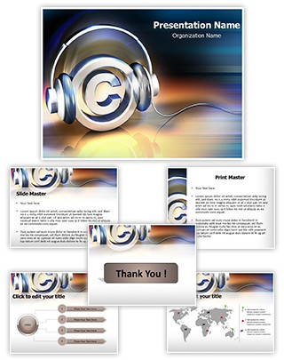 Copyright Music Editable PowerPoint Template