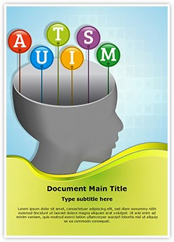 Autism Head Editable Word Template
