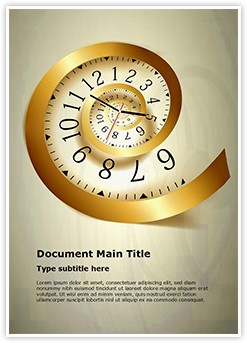 Infinity time Editable Word Template
