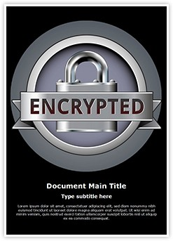 Secure Connection Encryption Editable Word Template