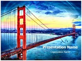 Golden Gate Bridge Editable PowerPoint Template