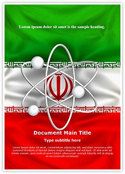 Iranian Nuclear Program Editable Word Template