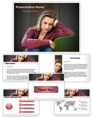 Depression Editable PowerPoint Template