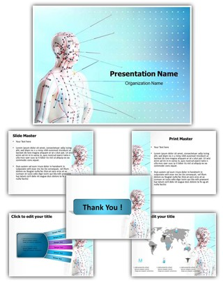 Alternative Medicine Acupuncture PowerPoint Presentation Template With Editable Charts