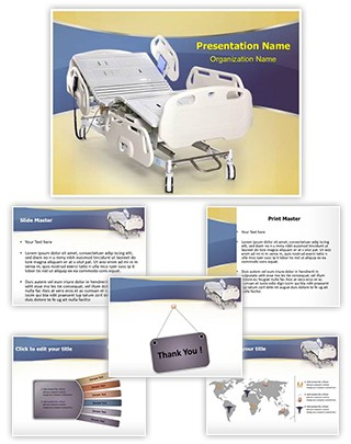 Hospital Stretcher Editable PowerPoint Template