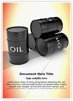 Lubricant Tank Editable Word Template
