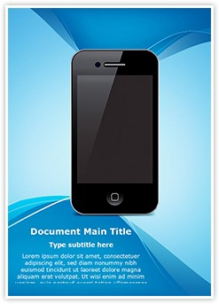 Smart Phone Editable Word Template