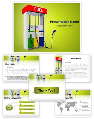 Filling Station Editable PowerPoint Template