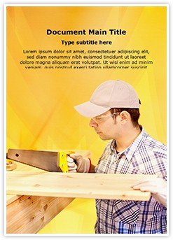 Wood Craftsman Editable Word Template