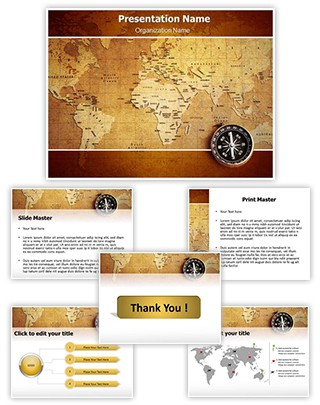 Geographical Map Editable PowerPoint Template