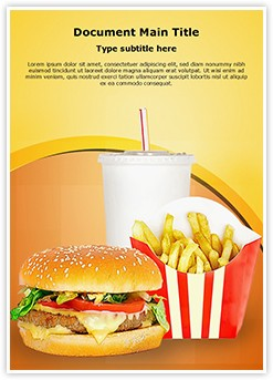 Fast Food Mcdonalds Editable Word Template