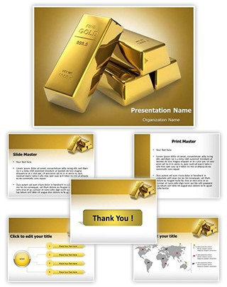 Gold Brick Editable PowerPoint Template