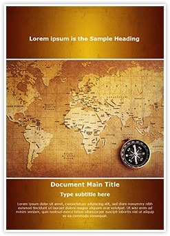Geographical Map Editable Word Template