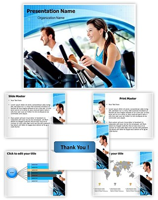 Work Out At Gym Editable PowerPoint Template
