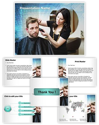 Hair Stylist Editable PowerPoint Template