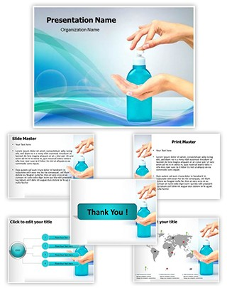 Hand Sanitizer Editable PowerPoint Template