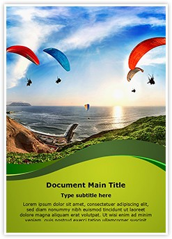 Paragliding Training Editable Word Template