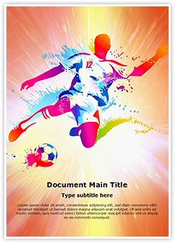 Soccer Player Football Championship Editable Word Template