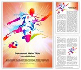 Soccer Player Football Championship Template