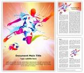 Soccer Player Football Championship Editable Word Template