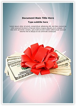Cash Bonus Editable Word Template