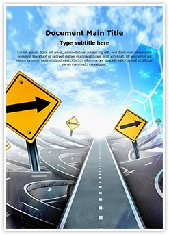 Labyrinth Of Roads Editable Word Template