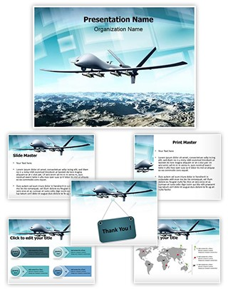 Professional drone aircraft editable powerpoint template drone aircraft editable powerpoint template toneelgroepblik Choice Image