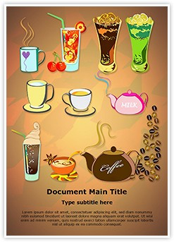 Starbucks Menu Editable Word Template