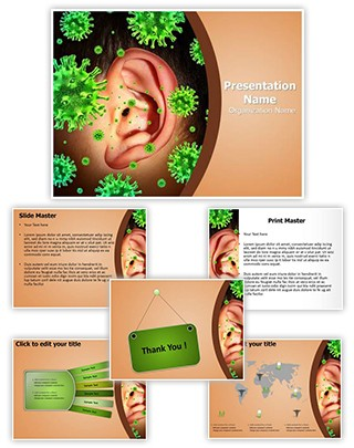 Otitis Media Editable PowerPoint Template