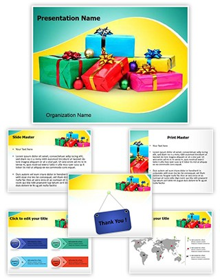 Christmas Gifts Editable PowerPoint Template