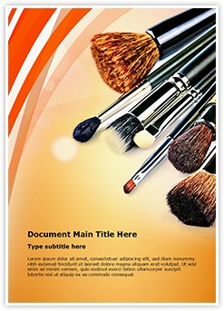 Makeup Editable Word Template