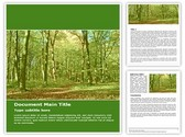 Green Forest Free Word Template