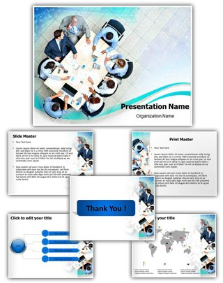 Business Meeting Editable PowerPoint Template