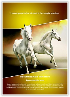 White Horses Editable Word Template