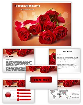 Red Rose Editable PowerPoint Template