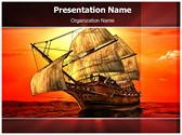 Sailing In Sea Editable PowerPoint Template