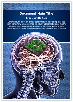 Brain Biochip Editable Word Template