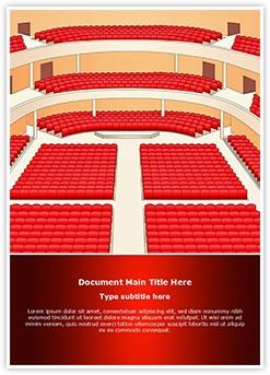 Theater Hall Interior Editable Word Template