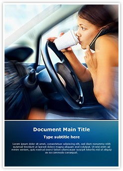 Distracted Driving Editable Word Template