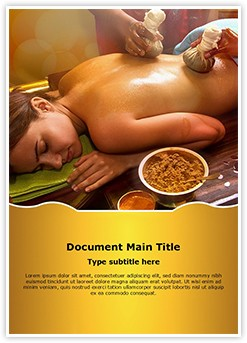 Indian Ayurvedic Oil Therapy Editable Word Template