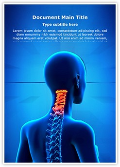 Cervical Spine Anatomy Editable Word Template