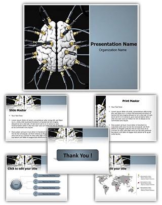 Artificial Brain Editable PowerPoint Template