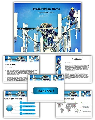 Cellular Construction Editable PowerPoint Template