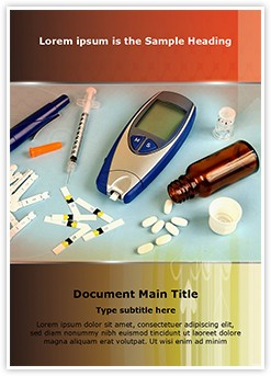Diabetes Equipment Editable Word Template