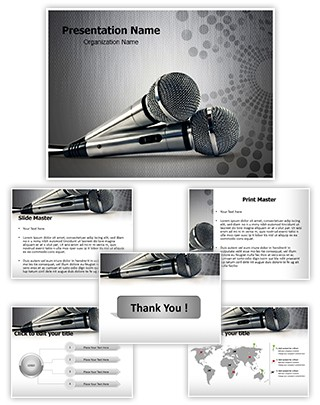 Microphones Editable PowerPoint Template