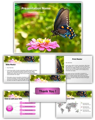 Butterfly Nectar Editable PowerPoint Template